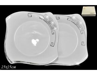 Набор тарелок 2шт 25см Lenardi Givenchi Platinum Lenardi 108-010