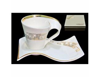 Кофейная пар 2 предмета 90мл Lenardi Givenchi Gold 108-079