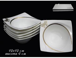 Набор 6 салатников 12см Lenardi Бантик 108-193