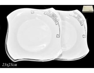 Набор тарелок 2шт 23см Lenardi Givenchi Platinum Lenardi 108-196