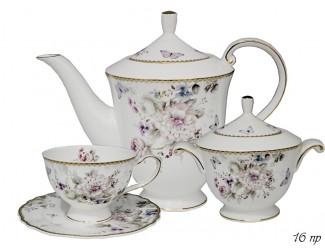 Чайный сервиз на 6 персон 16 предметов Lenardi Хризантемы 108-216