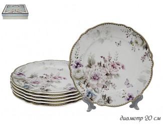 Набор из 6 тарелок 20см Lenardi Хризантемы 108-222