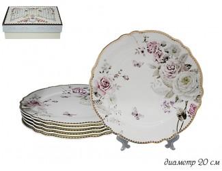 Набор из 6 тарелок 20см Lenardi Пионы 108-223