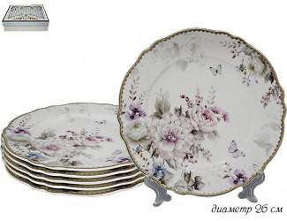 Набор из 6 тарелок 26см Lenardi Хризантемы 108-226