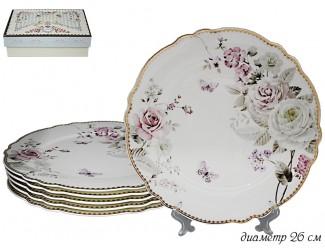 Набор из 6 тарелок 26см Lenardi Пионы 108-227
