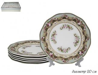 Набор из 6 тарелок 20см Lenardi Малахит 108-256