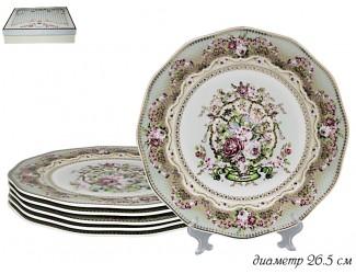 Набор из 6 тарелок 26.5см Lenardi Малахит 108-260