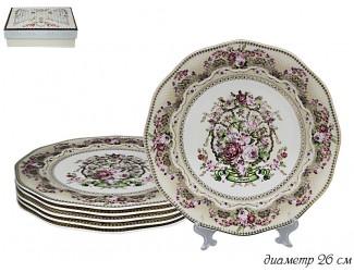 Набор из 6 тарелок 26,5см Lenardi Селена 108-261
