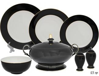 Обеденный сервиз на 6 персон 23 предмета Lenardi чёрный 108-291
