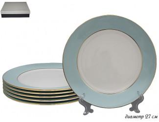 Набор из 6 тарелок 27см Lenardi голубой 108-298