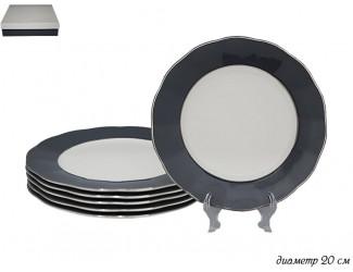 Набор из 6 тарелок 20см Lenardi серый 108-306
