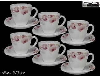 Набор чайных пар на 6 персон 12 предметов Lenardi Орхидея 116-091