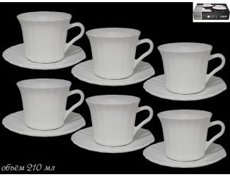 Набор чайных пар 12 предметов Lenardi Ракушка 116-094