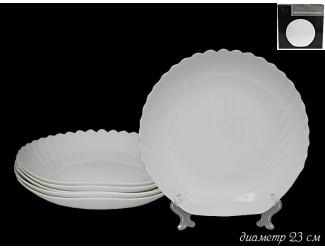 Набор из 6 глубоких тарелок 23см Lenardi Ракушка 116-095