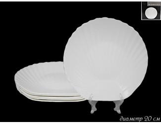Набор из 6 тарелок 20см Lenardi Ракушка 116-098