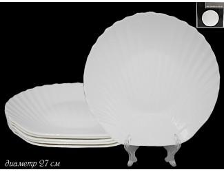 Набор из 6 тарелок 27см Lenardi Ракушка 116-099