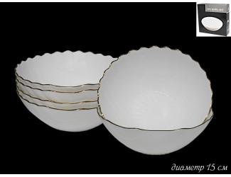 Набор из 6 салатников 15см Lenardi Ракушка золото 116-111