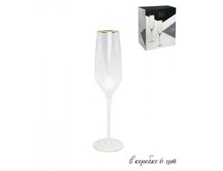 Набор из 6 фужеров для шампанского Lenardi Diamond 450мл 121-015