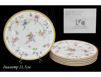 Набор из 6 тарелок 21,5см Lenardi Цветочная поляна 125-075