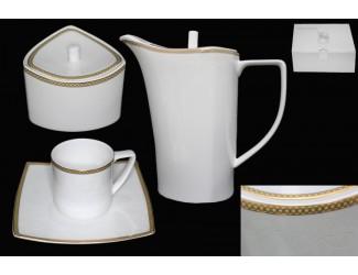 Кофейный сервиз на 6 персон 16 предметов Lenardi Galaxy Gold 125-143