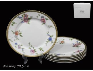 Набор 6 тарелок 16,5 см Lenardi Цветочная поляна 125-157