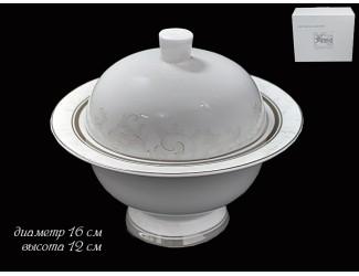 Сахарница 16 см Lenardi Серый шёлк 125-162