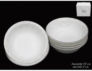 Набор тарелок 6шт 26,5см Lenardi Серый шёлк 116-022