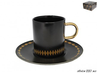 Чайная пара 220мл Lenardi Tekito чёрный 133-005