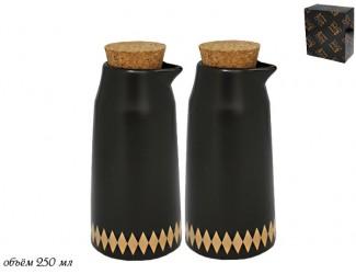 Набор емкостей для масла и уксуса  2 предмета Lenardi Tekito чёрный 133-019