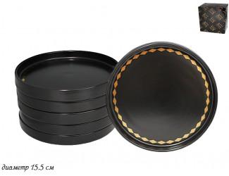 Набор из 6 тарелок 15,5см Lenardi Tekito чёрный 133-030