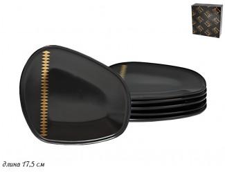 Набор из 6 тарелок 17,5см Lenardi Tekito чёрный 133-032