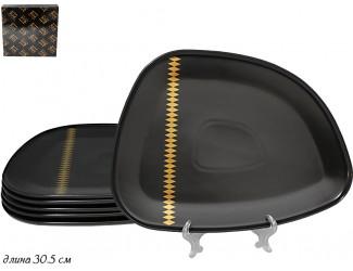 Набор из 6 тарелок 30,5см Lenardi Tekito чёрный 133-034