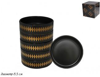 Набор из 6 розеток 8,5см Lenardi Tekito чёрный 133-037
