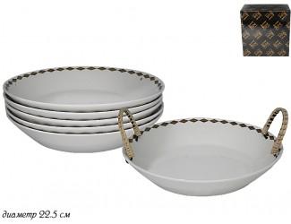 Набор из 6 глубоких тарелок 22.5см Lenardi Tekito белый 133-049