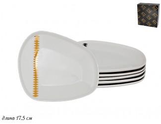 Набор из 6 тарелок 17,5см Lenardi Tekito белый 133-069