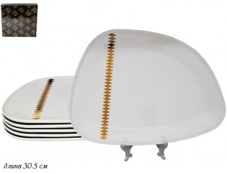 Набор из 6 тарелок 30,5см Lenardi Tekito белый 133-071