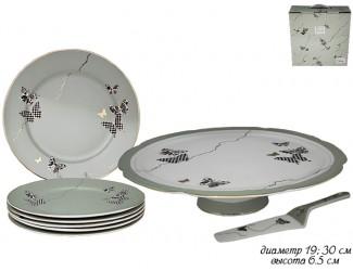 Набор для торта 8 предметов Lenardi Butterflyзелёный 133-094