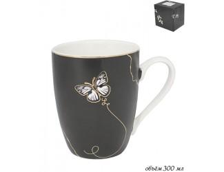 Кружка 300мл Lenardi Butterfly чёрный 133-101