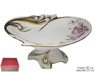 Фруктовница на ножке 36см Lenardi Азалия Мраморная 144-154