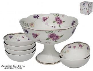 Набор для варенья креманка и 6 розеток Lenardi Флоренс 181-124