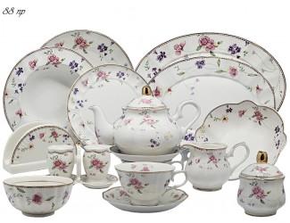 Чайно-столовый сервиз на 12 персон 88 предметов Lenardi Флоренс 181-134