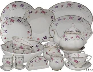 Чайно-столовый сервиз на 12 персон 88 предметов Lenardi Флоренс 181-135