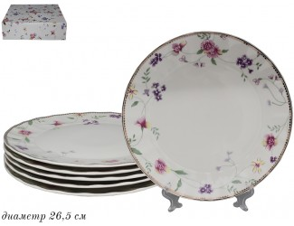 Набор тарелок 6 шт 26,5см Lenardi Флоренс 181-150