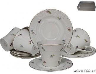 Набор чайных пар на 6 персон 12 предметов Lenardi Флоренс 181-170