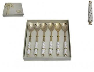 Набор из 6 десертных ложек Lenardi KRISTAL DE LUX 198-002