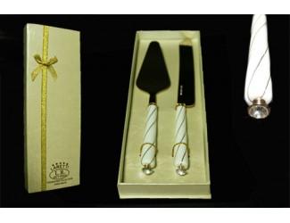 Набор для торта 2 предмета нож+лопатка Lenardi KRISTAL DE LUX 198-009