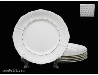 Набор тарелок 6шт 21,5см Lenardi Izobell Gold 226-037