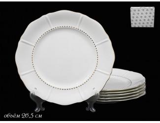 Набор тарелок 6шт 26,5см Lenardi Izobell Gold 226-039
