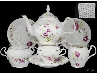 Чайный сервиз на 6 персон 17 предметов Lenardi Maria Rose 226-061