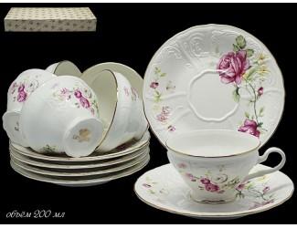 Набор чайных пар 12 предметов Lenardi Maria Rose 226-062